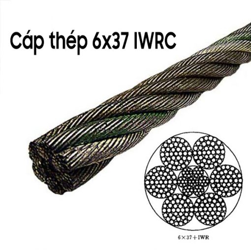 Dây cáp thép mạ 6x37 IWRC
