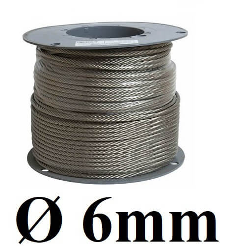 dây cáp thép 6 mm