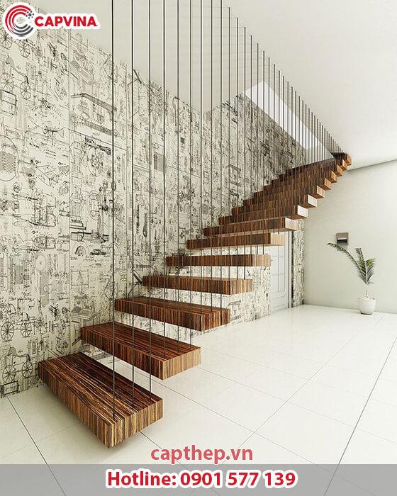 Một số mẫu cầu thang dây cáp siêu đẹp 7
