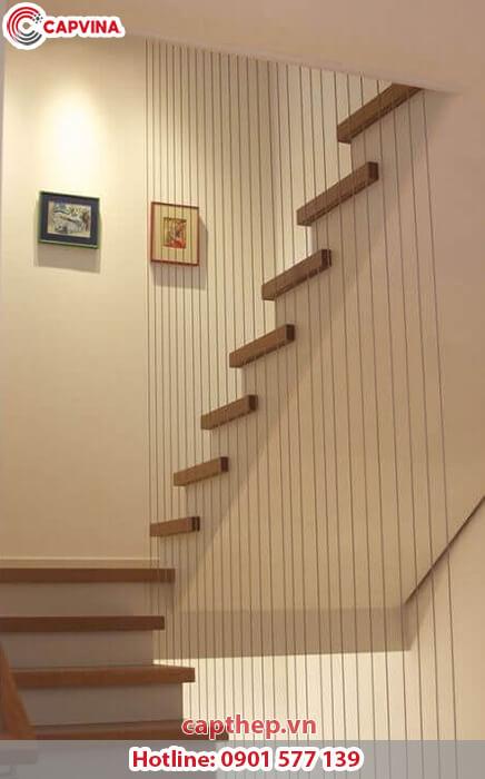 Một số mẫu cầu thang dây cáp siêu đẹp