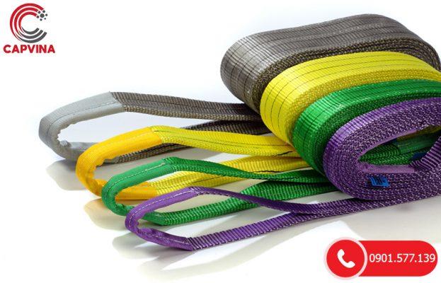 Dây cáp vải cẩu hàng bản dẹp - Webbing Sling: Cấu tạo, ưu điểm và ứng dụng